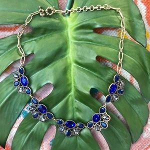 J Crew blue gem stone necklace